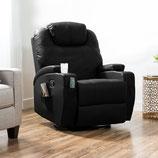 Sillón Reclinable Mecedora Best Choice Products Masaje Calor en Negro Rotación 360 SKY2238