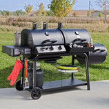 Gas y Carbon Char Griller Trio - Gas-Charcoal Grill and Smoker modelo 3030