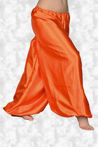 Satin-Pluderhose Orange