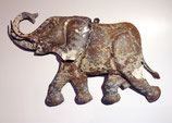 Elephant Metall Wall Sculpture