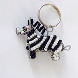 Beaded Keyring Zebra
