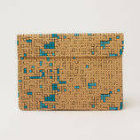 Turquoise Dots & Squares Laptop Sleeve