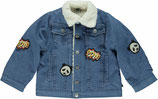 Jean jacket in organic cotton with a fur collar - Smafolk