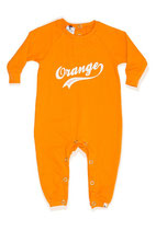 Orange Sweat Romper - Shampoodle