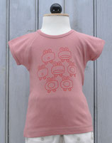 Tshirt Girl Old Pink  -  La Queue du Chat