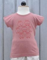 Tshirt Girl Old Pink  -  La Queue du Chat