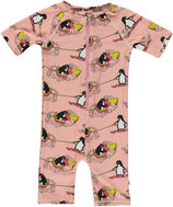 Short sleeve UV50 suit pink- Smafolk