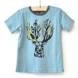 Tshirt bleu clair tête de cerf - Hebe