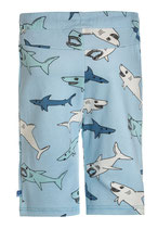 Sweat short bleu imprimé requin - Smafolk