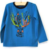 Shirt long sleeve blue deer head - Hebe