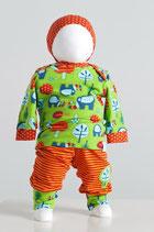 Babyhose & Babyshirt & Knotenmütze