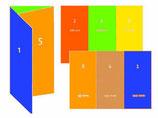 Falz-Flyer 6-seitig Wickelfalz 4/4-farbig Din-lang (10x 21cm) 135g Superglanz, glzd. oder matt