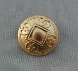 Knopf Quadrat Gold