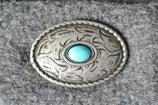 Oval türkis altsilber