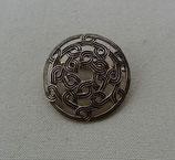 Brosche Knotenmuster bronze