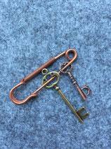 Nadel kupfer mit Schlüssel