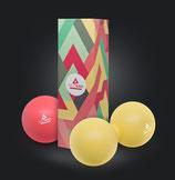 Lacrosse Ball (7cm Ø), Faszientrainer/ Massageball im 2er Set