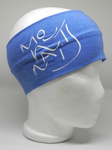 Headband Mountains Schriftzug jeansblau/weiss