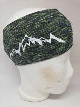 Funktions Stirnband Berg 1.0 schwarz-lime/weiß