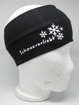 Baumwoll Stirnband Schneeverliebt schwarz/weiß