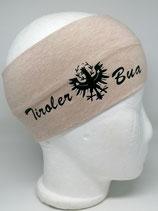 Stirnband Tiroler Bua beigemelange/schwarz