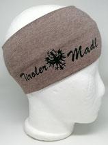 Stirnband Tiroler Madl taupe
