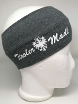 Stirnband Tiroler Madl dunkelgrau/weiss