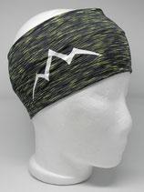 Funktions Stirnband Les Alpes schwarz-lime/weiß