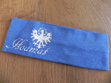 Hoamat jeansblau/weiß