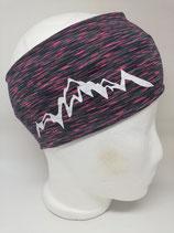 Funktions Stirnband Berg 1.0 schwarz-pink/weiß