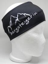 Funktionsstirnband Bergsteigerin schwarz/weiss