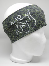 Funktionsstirnband Headband Mountains Schriftzug lime/black/white