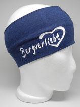 Stirnband Bergverliebt nachtblau/weiß