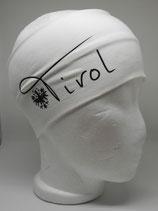 Baumwoll Stirnband Tirol mit Adler weiß/schwarz