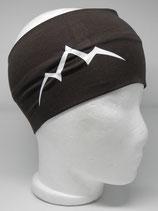 Baumwoll Stirnband Les Alpes braun/weiß