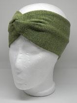Strickstoff Turbanstirnband Uni grasgrün