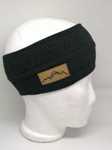 Stirnband Mountain Label Strick schwarz