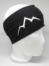 Baumwoll Stirnband Les Alpes schwarz/weiß