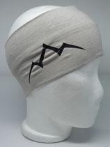 Baumwoll Stirnband Les Alpes beige-melange/schwarz