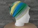 Beanie Farbverlauf grau/grün/blau