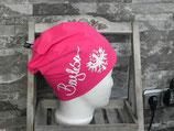 Bergleben Beanie pink/weiß