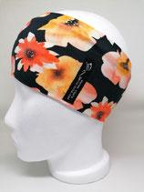 Aquarell Blumen schwarz/orange