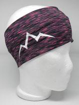 Funktions Stirnband Les Alpes schwarz-pink/weiß