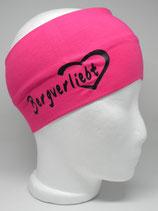Stirnband Bergverliebt pink/schwarz