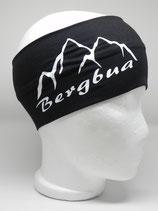Funktionsstirnband Bergbua schwarz/weiß