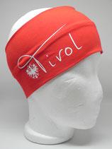 Baumwoll Stirnband Tirol mit Adler rot/weiß