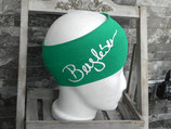 Bergleben Stirnband smaragd/weiß
