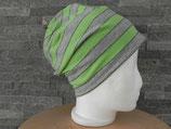 Beanie Verstreift grün/grau