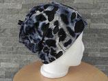 Beanie Gepard Used Look blau/schwarz