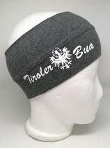 Stirnband Tiroler Bua dunkelgrau/weiss